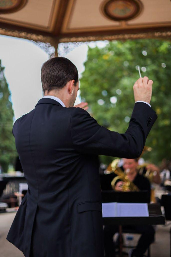 Emmanuel Descol, chef d'orchestre du Brass Band de Haute Bretagne